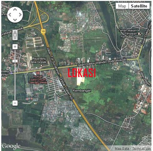 GMap MGA » Jual Ruko / Rumah Usaha MURAH di Mutiara Graha Agung (MGA) Gresik